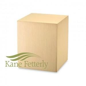 U2210 Urne en feuille de bronze en forme de cube