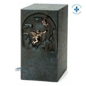 U2660 Bronze and zinc urn with angel