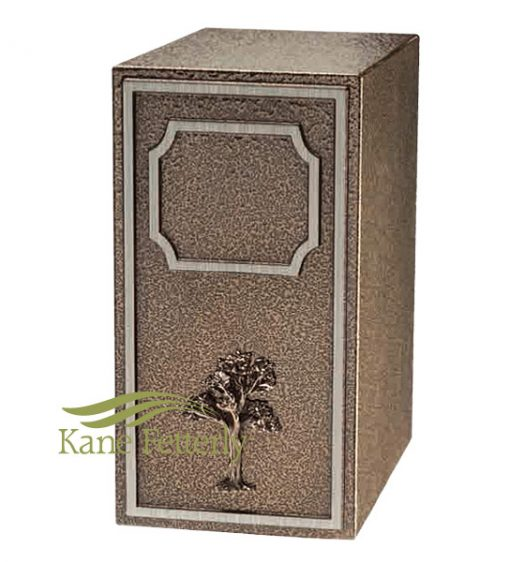 U2680 Zinc and bronze urn with tree