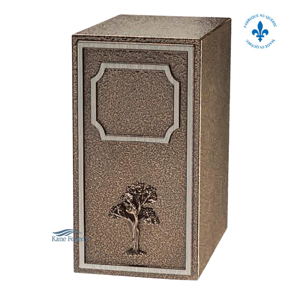 U2680 Zinc urn with bronze tree