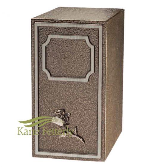 U2681 Zinc urn with rose