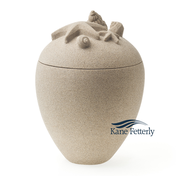 U3151 Sand urn with seashells and starfish