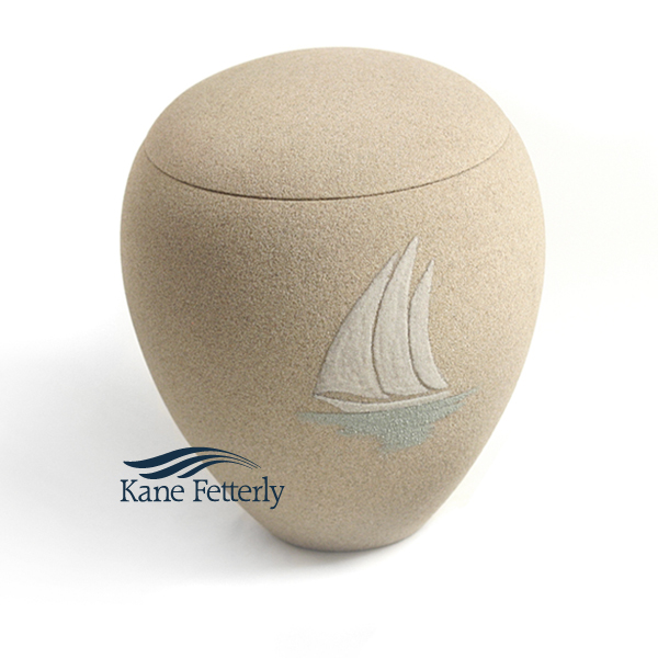 U3156 Sand urn with sailboat