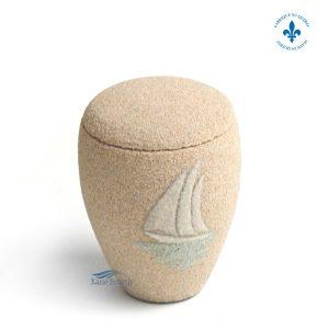 U3156K Urne miniature en sable avec voilier