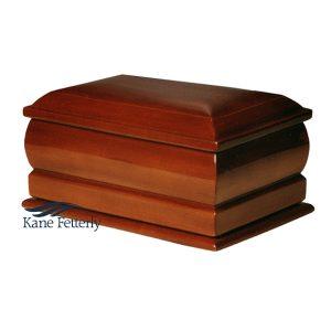 U4010 Solid mahogany urn