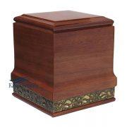 U4016 Solid mahogany urn