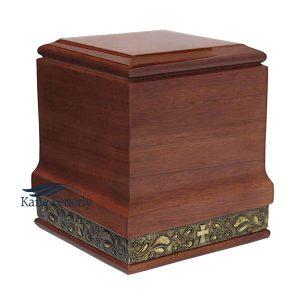 U4018 Solid mahogany urn