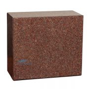 Red granite urn
