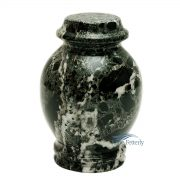 Green marble miniature urn