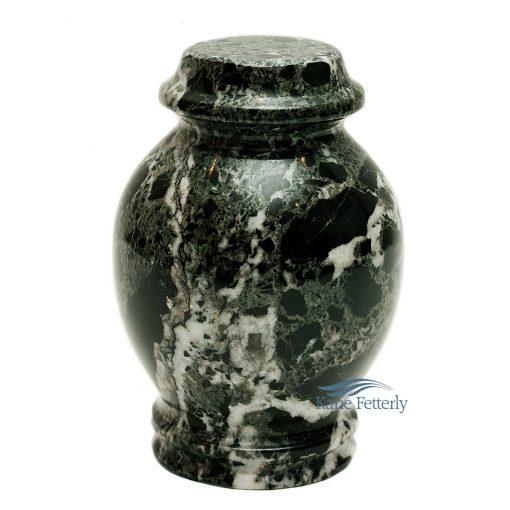 Green marble miniature urn