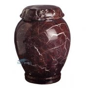 Red marble urn