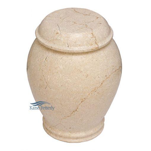 Beige marble urn