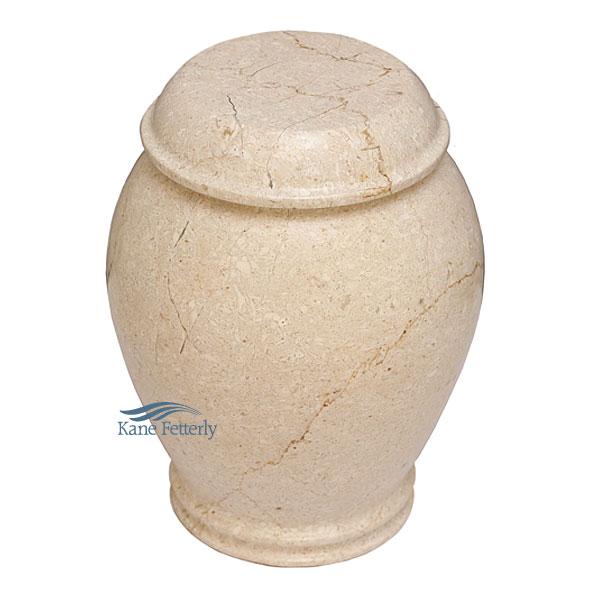 U6028 Urne en marbre naturel beige