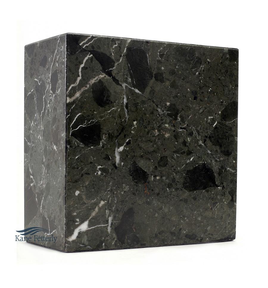 U6030 Urne en marbre naturel vert fonc�