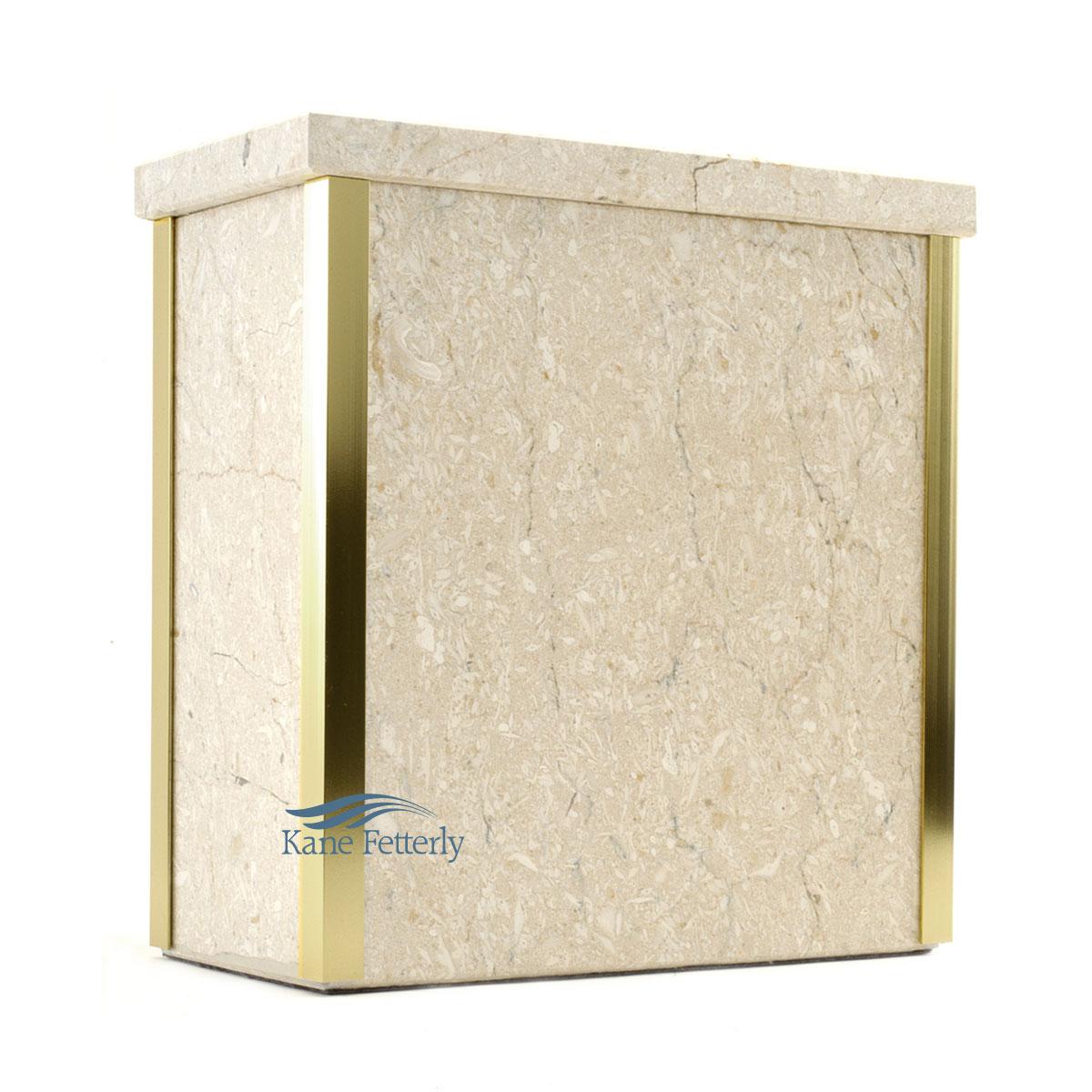 U6053 - Urne en marbre naturel beige