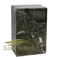 U6440 Urne en marbre naturel vert foncé