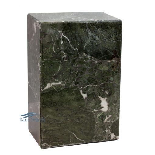 Green natural marble urn