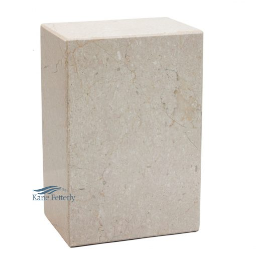 Beige natural marble urn