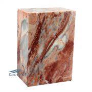 Urne en marbre naturel rose.