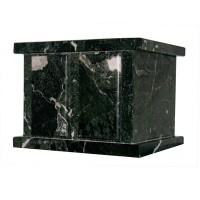 U6461D Urne double en marbre naturel vert