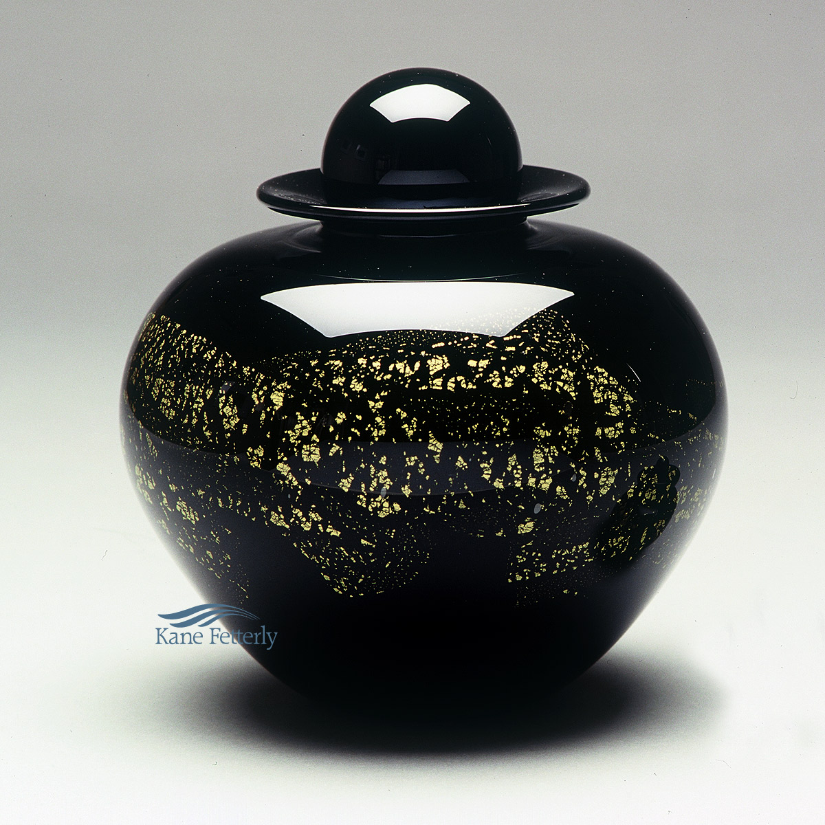 U8210BG Hand-blown glass urn