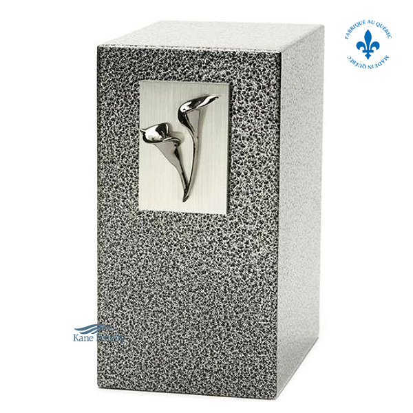 U8505 Zinc and aluminum urn with calla lily