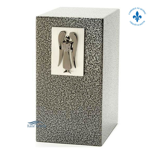 U8507 Zinc and aluminum urn with angel