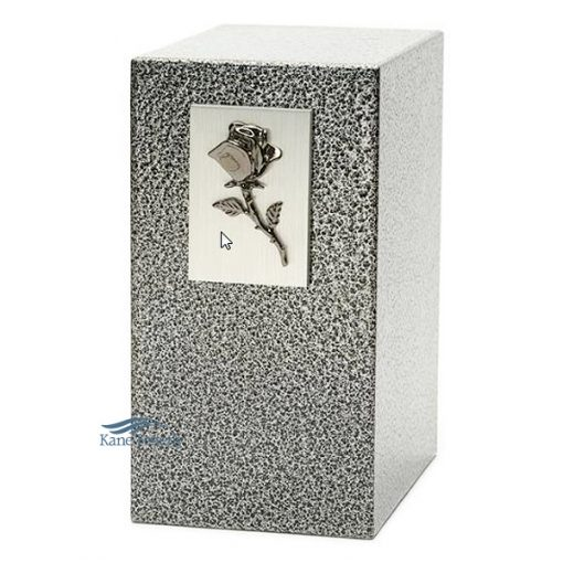 U8508 Zinc and aluminum urn with rose