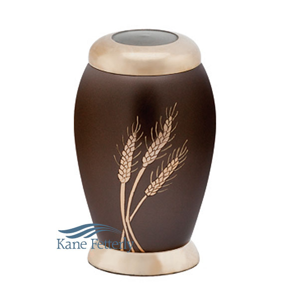 U8604K Miniature urn with wheat sheaves