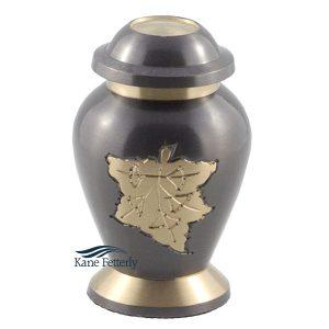 U8616K Urne miniature avec feuille d\\'érable