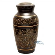 Gold and black brass urn