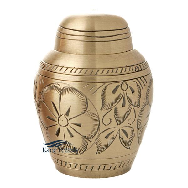 U8627K Brass miniature urn