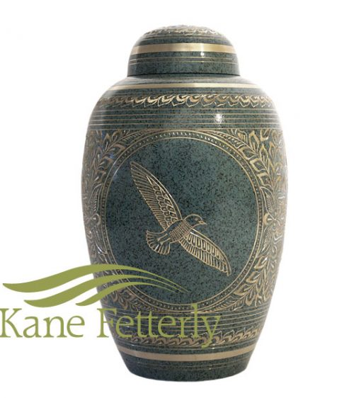 U8629 Brass urn
