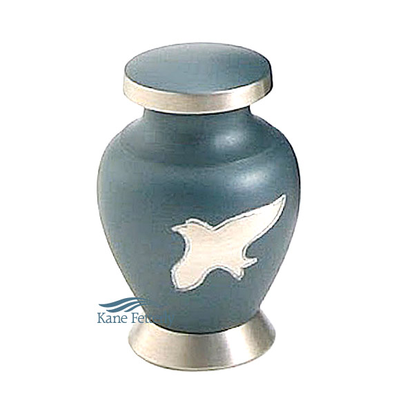 U8635K Miniature urn with doves