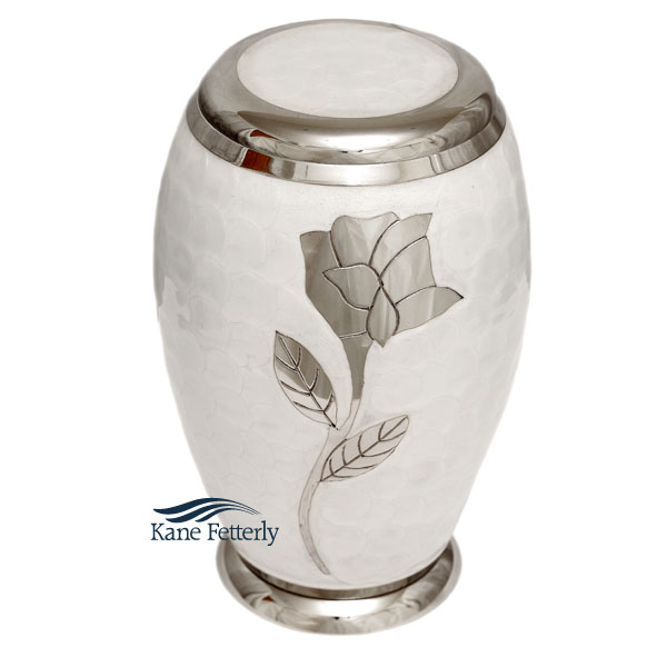 U8642 Brass urn with rose