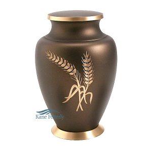 U8643 Urne en laiton avec gerbes de blé
