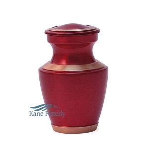 U8644K Urne miniature rouge et or