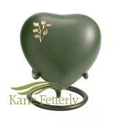 U8645H Urne miniature en coeur avec arbre