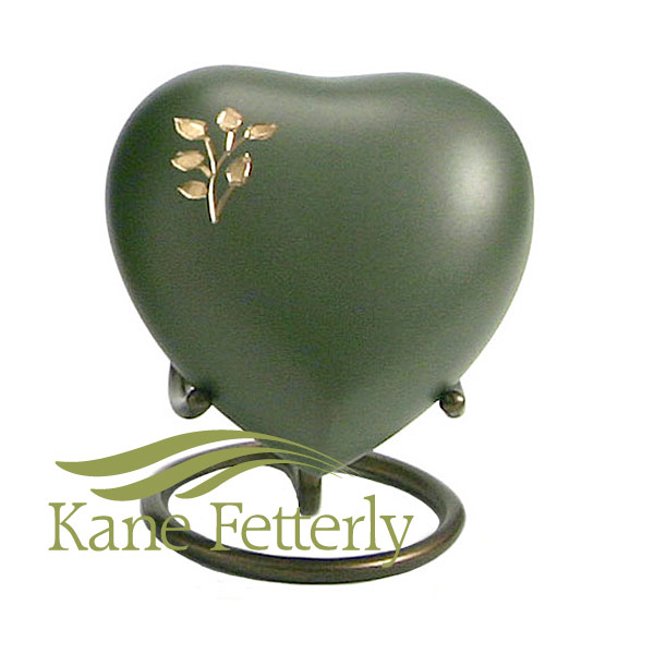 U8645H Brass green heart with tree branch