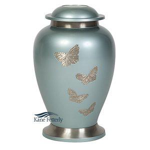 U8652 Urne en laiton avec papillons