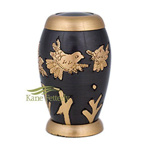 U8665K Miniature urn with flying doves