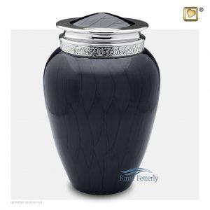 U8705 Urne en laiton gris anthracite fini nacré