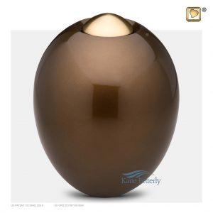 U8717 Urne ovale en laiton brun