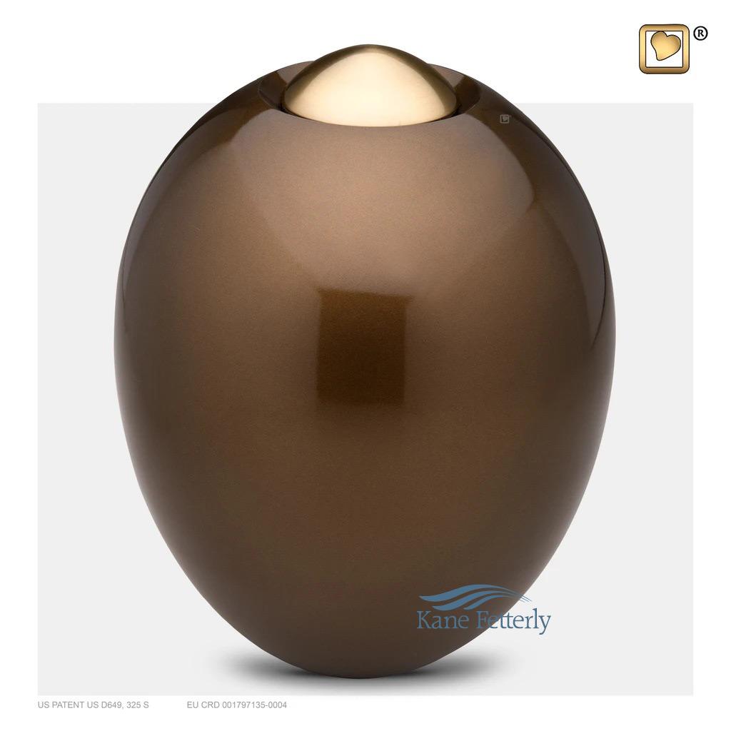 U8717 Oval Brass Urn