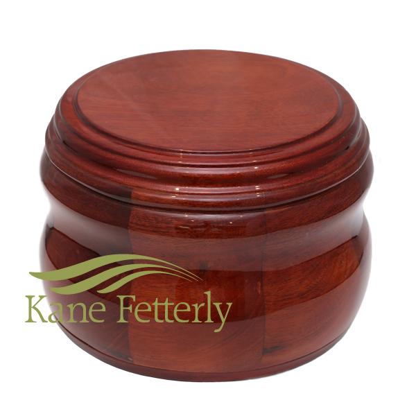 U4036 Solid mahogany urn