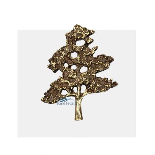 Ornement pour urne en métal arbre