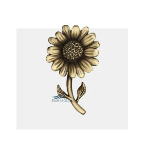A0284 Sunflower (2.5 x 1.5 in.)