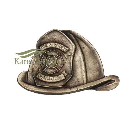 A0290 Chapeau de pompiers - ornement en métal pour urne