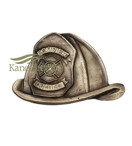 A0290 Fireman hat metal ornament for urn