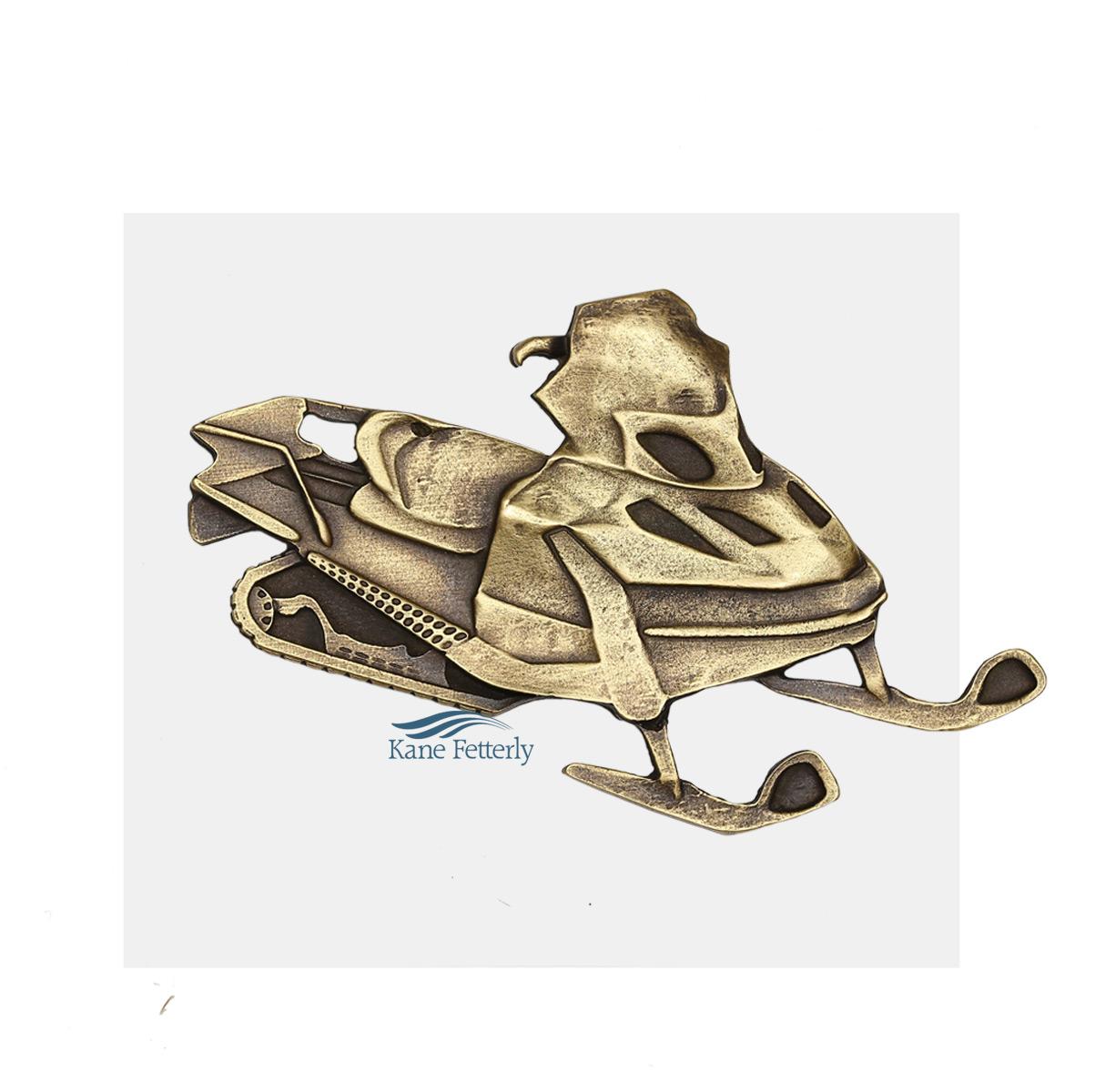 A0360 Motoneige - ornement en métal pour urne